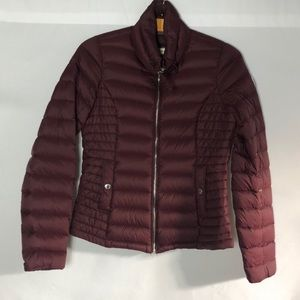 Abercrombie and Fitch Maroon Puffer
